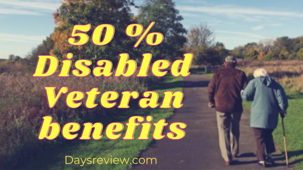 What is 50 percent VA disability and 50 % Disabled Veteran benefits